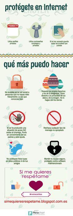 Consejos para evitar el acoso en Internet #infografia #infographic #education