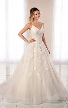 Modest Wedding Dresses 2019 7091 Delicate Lace Ballgown with Simple Straps by Stella York.Modest Wedding Dresses 2019 7091 Delicate Lace Ballgown with Simple Straps by Stella York Wedding Dress Pictures, Best Wedding Dresses, Designer Wedding Dresses, Wedding Gowns, Bridesmaid Dresses, Wedding Blog, Modest Wedding, Wedding Bride, Lace Wedding