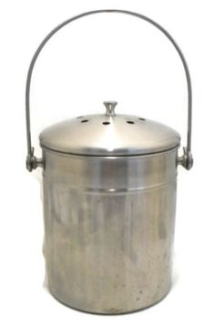RSVP Stainless Steel Kitchen Compost Pail (FILTER)
