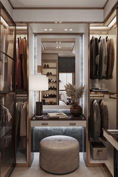 Walk In Closet Design, Bedroom Closet Design, Home Room Design, Closet Designs, Bedroom Closets, Luxury Bedroom Design, Luxury Home Decor, Luxury Interior Design, Luxury Master Bedroom