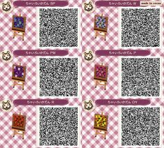 cocoa village forest diary (Animal Crossing: New Leaf) ◆ My design (the ground)Flowerbed - petals four flower ~ Brown Border