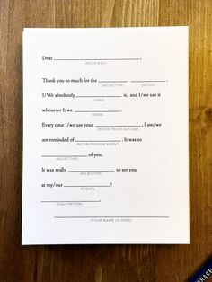 The world's best thank you card? ;)