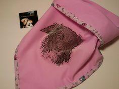 Bandana rosa /customized handkerchiefs rose