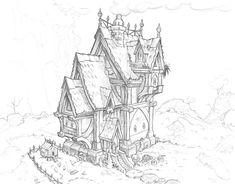 ArtStation - Fantasy architecture - Mansion/house, Wes Wheeler