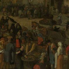 Marktdag in een Vlaamse stad, Sebastiaan Vrancx, 1600 - 1647 - Rijksmuseum