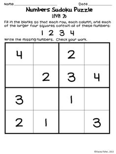 Sudoku Puzzles for Young Children-Differentiated Puzzles with Shapes and Dice Beginner Sudoku puzzles with numbers, dice, or plane shapes Word Puzzles For Kids, Sudoku Puzzles, Printable Puzzles For Kids, Math Activities For Kids, Number Puzzles, Logic Puzzles, Fun Math, Math Games, English Worksheets For Kids