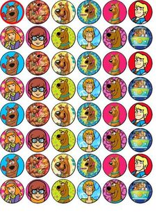 SCOOBY DOO 48 X 3CM EDIBLE RICE WAFER PAPER FAIRY CUPCAKE MUFFIN CAKE TOPPERS | eBay