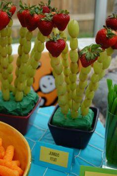 Lion King birthday food - jungle fruit