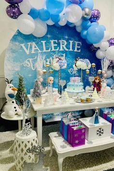 Take a look at this gorgeous Frozen 2 birthday party! The dessert table is magical! See more party ideas and share yours at CatchMyParty.com  #catchmyparty #partyideas #frozen2 #frozen #frozenbirthdayparty #girlbirthdayparty #princessparty
