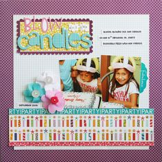 birthday, layout, 2 pictures