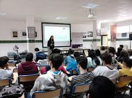 """On 6th April, it was held the first meeting for the conference """"Internet and Social Networks for Employability"""" at Secondary School Juan Ramón Jiménez in Moguer (Huelva)."""