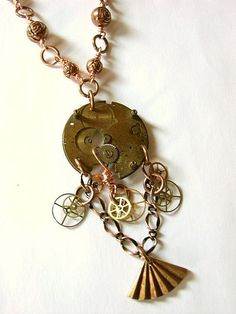 Recycled Watch Parts Steampunk Necklace