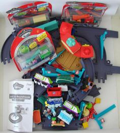 Chuggington Lot Launch Go Roundhouse Cross Switch Track Die Cast Train Cars New #LearningCurve