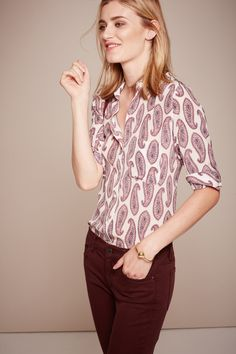 Ann Taylor's paisley print silk blouse is a new closet essential.