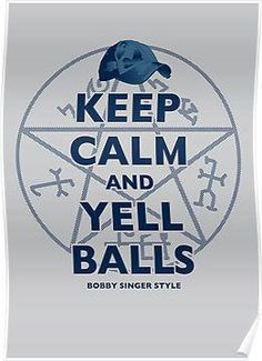 I love Bobby Singer! Supernatural Fan Art, Castiel, Bobby Singer, Winchester Boys, Superwholock, Keep Calm, Dean, Nerdy, Fandoms