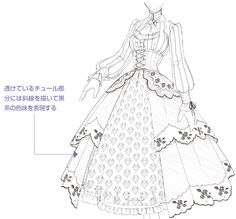 The most complete in history, the characteristics and methods of Gothic style - GOTHİC BEDDİNG Dress Design Drawing, Dress Design Sketches, Dress Drawing, Fashion Design Drawings, Fashion Sketches, Kleidung Design, Drawing Anime Clothes, Clothing Sketches, Anime Poses Reference