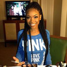 purple box braids for black women   DMV, Monique J.// Box Braids are back with a Vengeance! Celebs who ...