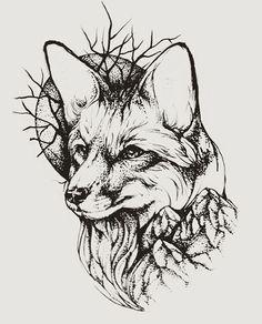 Images of gemini animal tattoo sketches - Animal Sketches, Animal Drawings, Art Drawings, Fuchs Tattoo, Landscape Tattoo, Fox Tattoo, Line Work Tattoo, Mountain Tattoo, Fox Art