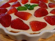 Strawberry Lemon Kefir Pie