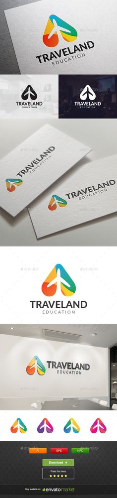 Travel Land Logo Template #design #logotype Download: http://graphicriver.net/item/travel-land/11765450?ref=ksioks