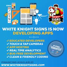 MARKETING SOLUTIONS, DESIGNS, SIGNS & APPS. White Knight Signs located in Fort McMurray, Grande Prairie and Edmonton. We are Alberta's preferred provider of app development, logo design, graphic design, printing, vehicle vinyl wraps, storefront graphics, signs & decals.  Business Consultant