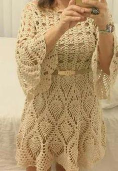 Crochet Edging Patterns, Crochet Cardigan Pattern, Crochet Blouse, Crochet Squares, Crochet Designs, Crochet Top, Crochet Summer Dresses, Crochet Baby Sandals, Crochet Doll Clothes