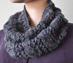 Sausalito Smoky Cables-and-Eyelet Cowl - Crystal Palace Yarns