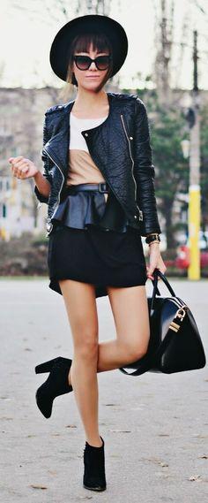 White Coffee Black Color Block Shift Little Dress by J'adore Fashion