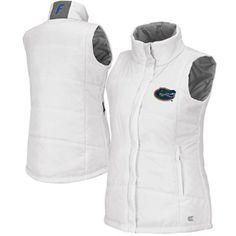 Florida Gators Ladies Vortex Puffer Vest - White
