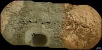 PIA16765: Laser Hits on Martian Drill Tailings