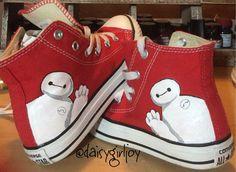 0e47f9e108 Custom Hand Painted Disney Big Hero 6 Baymax Children s Hi top Converse