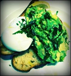 a proper place for my food fun Goat Cheese, Avocado Toast, I Foods, Goats, Good Food, Eggs, Breakfast, Morning Coffee, Egg
