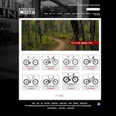 Straight Line Bike & Ski website design