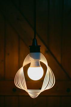 Lenti - an algorithm-generated minimalist lamp by Aleksandar Dimitrov, Price $35