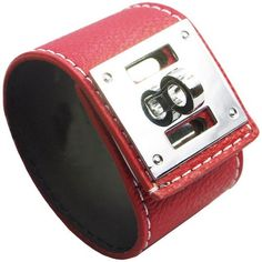Punk Coloured Metal Studs Faux Leather Wide Charm Wristband Bangle Bracelet Cuff, Red LookbookStore. $14.99. Package include: One Pcs. Size: Length 20.5cm(8in.) / Width 3.5cm(1.4in.), Diameter 5.5cm(2.2in.). Color: Red. 100% Brand new.. Material: Faux Leather + Alloy