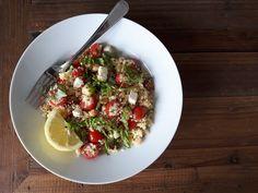 Salade de couscous feta et tomates: Idéale pour l'été ! - Cinq Fourchettes