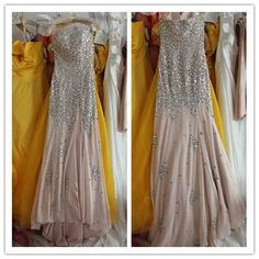 Find More Evening Dresses Information about Dusty pink chiffon sexy sweetheart Luxury Crystals sequin pearls slip long evening prom dress court train formal evening gown,High Quality dress bridal gown,China dress wedding gown Suppliers, Cheap dresses black and white from Sweety-Bridal on Aliexpress.com