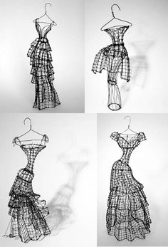 Leigh Pennebaker's wire couture sculptures