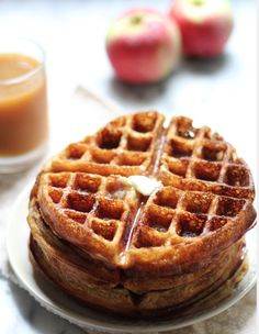 Apple Cider Waffles - Sounds like perfection right? Make your own with our #NoMessWaffleMaker http://www.sageappliances.co.uk/the-no-mess-waffletm.html and enjoy a warming, sweet treat like @Rachel Phipps