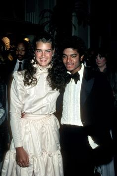 Brooke Shields and Michael Jackson, March 1981