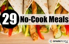 Too hot in the kitchen? Try one of these easy, no-cook  #summer recipes | via @SparkPeople #food #healthy