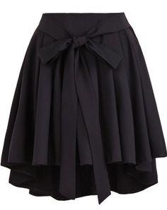 Belt Pleated Skirt
