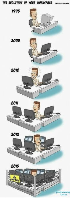 The last one is pretty much every developer's desk:)