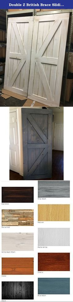 double z british brace sliding barn door features a double z pattern on both top