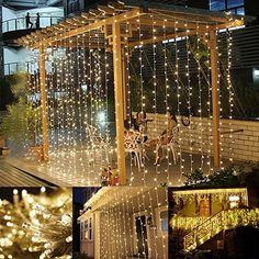LE® 3m*3m 304 LED Curtain Lights, Window Curtain Icicle Lights, 8 Modes, 9.8 x 9.8ft Linkable Design, Warm White, 3000K, Window Lights, String Fairy Light for Christmas/Wedding/Party Decorations Lighting EVER http://smile.amazon.com/dp/B0192XQQ6M/ref=cm_sw_r_pi_dp_iyJMwb0H60M39