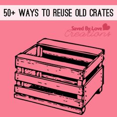 I love old crates! Ways to Old Crates Pallet Crates, Old Crates, Wooden Crates, Wood Pallets, Wooden Boxes, Diy Projects To Try, Wood Projects, Craft Projects, Project Ideas
