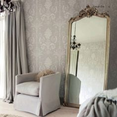 37 New Ideas Bedroom Mirror Decoration Chairs Decoration Gris, Decoration Inspiration, Room Inspiration, Decor Ideas, Decorating Ideas, Decorating Websites, My New Room, My Room, Creation Deco