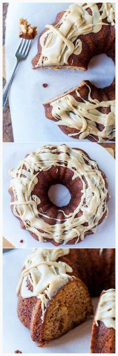... banana bread with a to-die-for glaze! #banana #vanilla #caramel #
