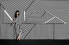 Installation and Art Direction for the annual Adobe Max conference. Photographed by JUCO. Black White Art, Black And White Design, Op Art, Portfolio Fashion, Dazzle Camouflage, Instalation Art, Stripes Fashion, Grafik Design, Mode Style