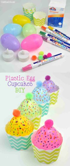 Plastic Egg Cupcakes DIY   Easy Plastic Egg Cupcake Candle Decorations and Treat Cups   Tween Craft Ideas for Mom and Daughter   http://club.chicacircle.com/plastic-egg-cupcakes-diy/  You can purchase Best LED Tea Light in the market http://www.amazon.com/BEST-FLAMELESS-TEA-LIGHTS-Pack/dp/B00HAQUI4A/ref=cm_cr_pr_product_top